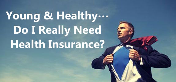 young healthy adult health insurance
